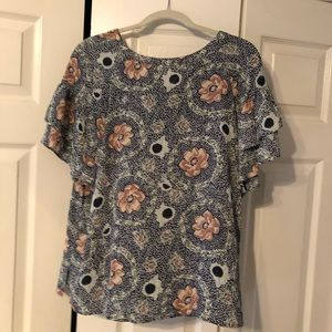 Loft outlet floral blouse